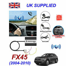 For Infinity FX45 Bluetooth Hands Free Phone AUX Input MP3 USB 1A Charger Module