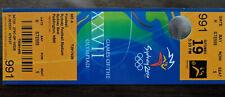 TICKET DE MATCH FOOTBALL J.O. SYDNEY 2000 -- AUSTRALIE - HONDURAS RARE