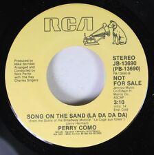 Pop Promo 45 Perry Como - Song On The Sand (La Da Da Da) / The Best Of Times On