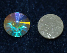 Cabochon Crystal vetro Cabochon 14 mm a partire da iron-on New GLUE 2x * bacatus *