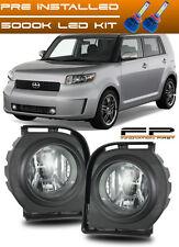 LED 2008 2009 2010 Scion XB Fog Lights Clear Lens Front Bumper Lamp COMPLETE KIT