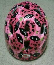 47-62 cm Infant Helmet Pink Black Ladybug Bell Toddler Girl Scooter Bike Safety