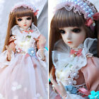 1/3 BJD Doll 60cm Female Girls with Upgrade Changeable Eyes Wig Shoes Clothes