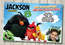 Angry Birds Invitation YOU PRINT Digital File Birthday Party Invite
