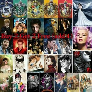 Gift 5D Full Drill Diamond Painting Kits Characters Embroidery Arts UK Stock