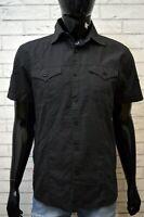Camicia Nera Uomo LEVI'S STRAUSS Taglia L Maglia Polo Manica Corta Shirt Man