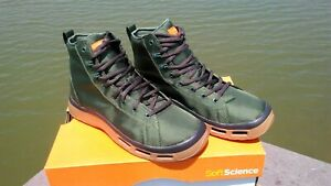 Soft Science Men's The Terrafin Fly Fishing Boots / Shoes color-Sage size 9
