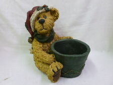 Boyds Bear St. Nick Garden Statue 6514535 Santa Claus Christmas Flower Pot NIB