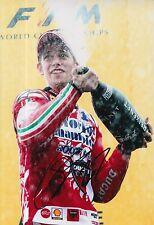 Casey Stoner mano firmado Ducati Marlboro 12x8 Foto MotoGP 2.
