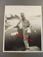 107886, Großes Portraitfoto US-Jagdflieger, 2 Abschüsse Japan, Bilanz, Jäger