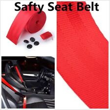 Safty Seat Belt Red 3 Bolt Point Car Retractable Racing Car Lap Belt Adjustable