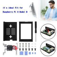 Armor 3.5 inch Display Case Fit for Raspberry Pi 4 Aluminum Alloy Cooling Fan