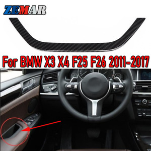 Car Door Armrest Storage Box Frame Cover Trim for BMW X3 F25 X4 F26 Accessories