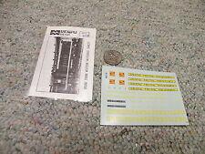 Microscale  decals HO mini-cal #4015 Grand Trunk Switchers early   E39
