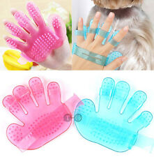 2 x Pet Shower Bath Palm Shape Brush Gloves Cat Dog Animal Grooming Massage Tool