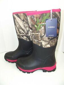 HISEA Waterproof Neoprene Rubber Muck Mud Hunting Rain Gardening Women Boot 7.5