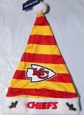 Kansas City Chiefs Team Logo Holiday Plush Santa Hat NEW! Christmas STRIPED