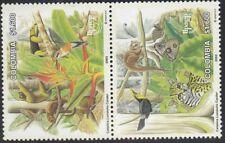Upaep Colombia 1239/40 2003 Bradypus tridactylus Ramphastos Mariposa pájaro bird
