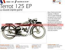 TERROT 125 EP et dérivés 1947 Fiche Moto 000242