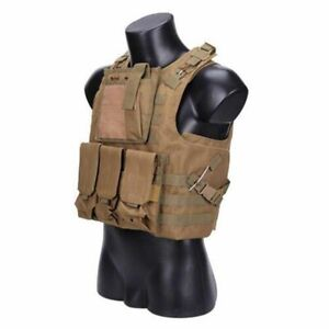 Military Gear Vest Pockets For Stuff Fishing Durable Clothes Green Desert Jungel