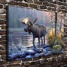 Deer in the Mist Animal Paintings HD Print on Canvas Home Decor Wall Art Picture