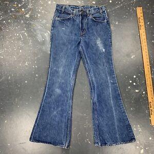 29x31 Levis 684 Big Bell Bottom Jeans 684-0217 Orange Tab W29 X L31 USA Vtg Dark