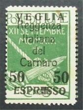 Nystamps Italien FIUME STEMPEL # e9 postfrisch OG H $210 s17x2760