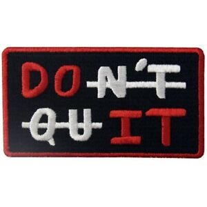 Embroidered Patches Iron Sew On Patches transfers Badges appliques Don't quit