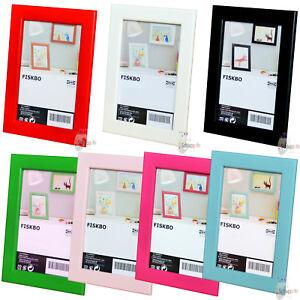 IKEA FISKBO Bilderrahmen /Fotorahmen/ 10x15 cm./13x18 cm./21x30 cm. (DIN A4) NEU