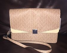 Guess Women's Dryden G Print Small Shoulder Bag Purse Handbag Brown / Tan NWT