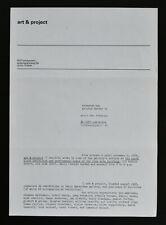 Art & Project, invitation # HUDSON STREET , NY # 1976, mint--