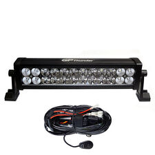 13 Inches 6000K Off Road 72W CREE LED Fog Lamp Work Light Bar SUV Jeep W/RELAY