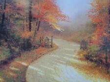 Autumn Lane by Thomas Kinkade Lithograph with certificate image about 23 3/4x20