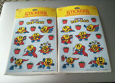 Vintage 1982 Official Super Pac-Man stickers atari 2 packs PacMan games 80s