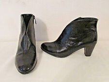 Ara Tricia Women's Ankle Zip Boots Booties Heels 36 5.5 US Black Patent Leather