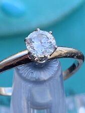 Tiffany & Co Platinum Solitaire Diamond Knife Edge Ring .33 Carats