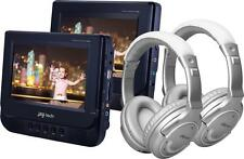 JAY-tech 728k Car Cinema Set 2x 7Zoll lettore-dvd + 2x BLUETOOTH CUFFIE