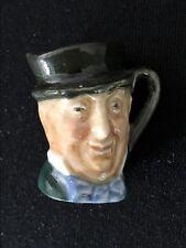 "Miniature Vintage Royal Doulton ""Mr Micawber"" Character Jug 3.5cm (T18)"