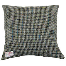 100% Wool Square Cushion Cover Harris Tweed Check Houndstooth Woven Zip New