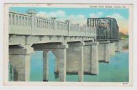 Vintage Old Postcard Oconee River Bridge Dublin Georgia GA