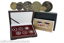 The Renaissance Collection Six Silver Coin Set 1387-1637 A.D. with COA & Display