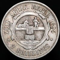 1895 | South Africa 2 Shillings | Silver | Coins | KM Coins