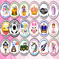 48x Personalised Birthday Stickers Labels Thank You For Coming To My Party