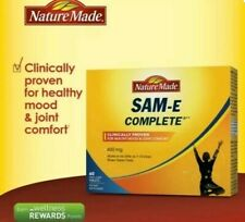 60 Nature Made SAM-e 400 mg Complete Healthy SAMe Mood Plus  60 Tablets