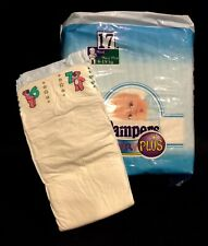 Vintage Pampers Baby-Dry Plus Diaper Sz Maxi Plus for Boys Greece Import *Rare*