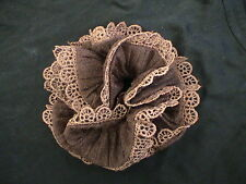 CHOCOLATE GLITTERY CUTE LACED SCRUNCHIE - UNIQUE! NEW!COMBINE SHIPPING!