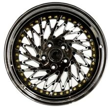Aodhan DS03 18x9.5 +15 18x10.5 +15 5x114.3 Black Vacuum Staggered (Set of 4)