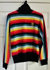 Love Moschino Long Sleeve Turtleneck Rainbow Women's Sweater Size 8, Italy 44