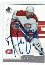 Mike Ribeiro Signed 2005/06 SP Authentic Card #53