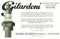 Publicité ancienne bougies Gilardoni 1925 issue de magazine